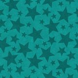Teal star-shape seamless pattern background. Teal star shape seamless and repeat pattern background with texture vector illustration