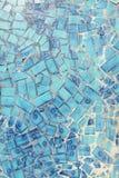 Teal Tile Wall Stock Image