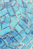 Teal Tile Wall Stock Image