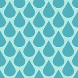 Teal vector water drops seamless background Stock Image