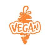 Teal vegan вектора штемпель ретро винтажный для знака качества Стоковые Фото
