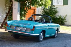 Teal Vintage Convertible Stock Images