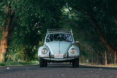 Teal Volkswagen New Beetle Royalty Free Stock Image