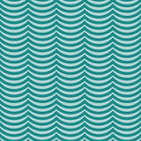 Teal Wavy Stripes Tile Pattern Repeat Background Stock Photo