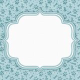 Teal and white dog pattern border with copy space royalty free stock photography