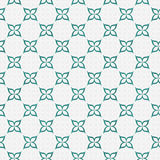 Teal and White Flower Repeat Pattern Background. That is seamless and repeats Royalty Free Stock Photos