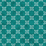Teal and White Flower Symbol Tile Pattern Repeat Background Royalty Free Stock Image