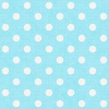 Teal and White Large Polka Dots Pattern Repeat Background. That is seamless and repeats Royalty Free Stock Images