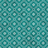 Teal and White Maltese Cross Symbol Tile Pattern Repeat Backgrou Stock Photos