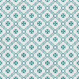 Teal and White Maltese Cross Symbol Tile Pattern Repeat Backgrou Royalty Free Stock Photography