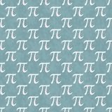 Teal and White Pi Symbol Design Tile Pattern Repeat Background Royalty Free Stock Photo