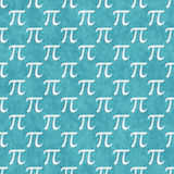 Teal and White Pi Symbol Design Tile Pattern Repeat Background Royalty Free Stock Photos