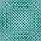 Teal and White Square Geometric Repeat Pattern Background Stock Photo