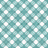 Teal and White Striped Gingham Tile Pattern Repeat Background Royalty Free Stock Photos