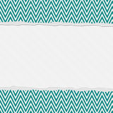 Teal and White Torn Chevron Frame Background Stock Photos