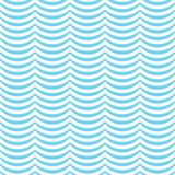 Teal and White Wavy Stripes Tile Pattern Repeat Background Stock Photos