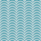 Teal and White Wavy Stripes Tile Pattern Repeat Background Stock Photography
