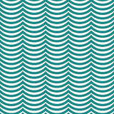Teal and White Wavy Stripes Tile Pattern Repeat Background Royalty Free Stock Images