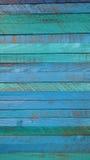 Teal Wooden Panels Fotografie Stock Libere da Diritti