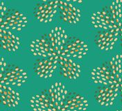 Teal yellow summer flower seamless pattern royalty free illustration