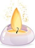 Tealight świeczka nad białym tłem fotografia royalty free