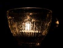Tealight в стекле Стоковые Изображения