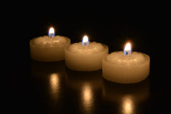 Tealight candles Stock Photography