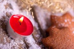 Tealight for christmas athomsphere Stock Photos