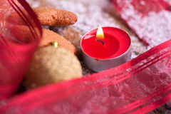 Tealight for christmas athomsphere Stock Photo