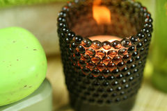 Tealight holder in spa Royalty Free Stock Photography