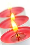 Tealight Kerzen stockbilder