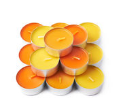 Tealight paraffin wax candle isolated Stock Images