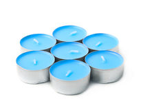 Tealight paraffin wax candle isolated Royalty Free Stock Images
