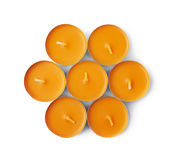Tealight paraffin wax candle isolated Royalty Free Stock Photography