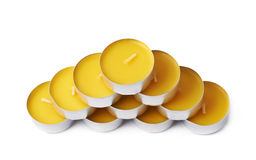 Tealight paraffin wax candle isolated Stock Image