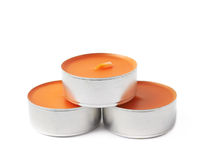 Tealight paraffin wax candle isolated Royalty Free Stock Photo