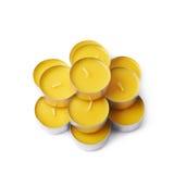 Tealight parafinowego wosku świeczka odizolowywająca Zdjęcie Stock