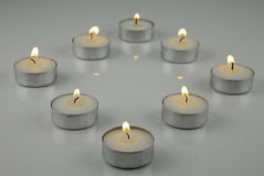 tealights Fotografia Stock