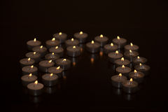 Tealights. Still life with tea lights royalty free stock images