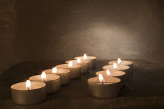 Tealights Royalty Free Stock Photos