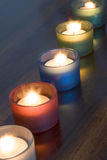 Tealights Photographie stock libre de droits