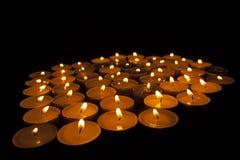 Tealights della candela fotografie stock