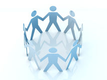 Team. 3D rendered Illustration Royalty Free Stock Photos