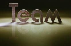 Team. Word team of iron letters Royalty Free Stock Photography