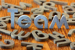 Team. Word team of iron letters Royalty Free Stock Image