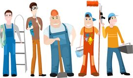 Team. Vector illustration of a worker team Royalty Free Stock Photos