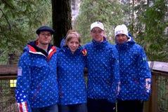 Team 2 van de Ski van de V.S. Stock Afbeelding