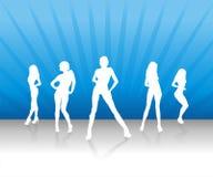 Team 2 van vrouwen Royalty-vrije Stock Afbeeldingen