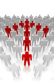 The Team. Red arrow formed with team members. It's a 3D rendered illustration concept Royalty Free Stock Image
