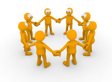 Team. Of people linking hands Royalty Free Stock Photos